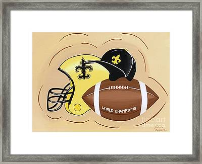 Black And Gold Champs Framed Print
