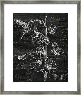 Black And Gold Hummingbirds 2 Framed Print