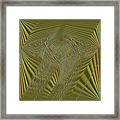 Black And Gold Framed Print by Mary Russell