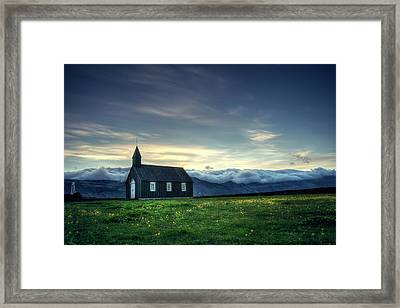 Framed Print featuring the photograph Black And Isolated by Peter Thoeny