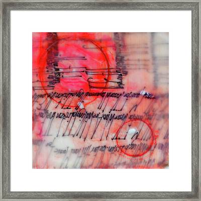 Framed Print featuring the painting Black And Red Encaustic 3 by Nancy Merkle
