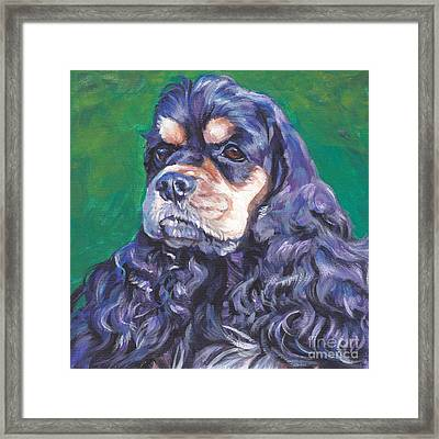 black and tan Cocker Spaniel Framed Print by Lee Ann Shepard