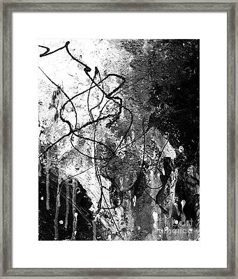 Black And White Abstract Art By Laura Go Framed Print by Laura  Gomez