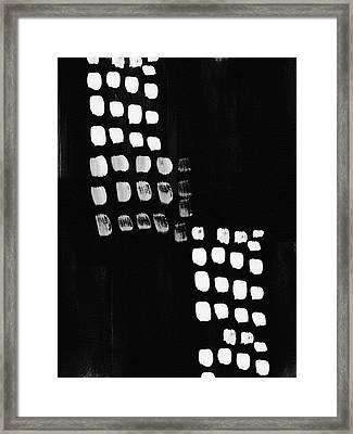 Black And White Abstract- Art By Linda Woods Framed Print by Linda Woods