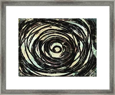 Framed Print featuring the painting Black And White Abstract Curves by Joan Reese