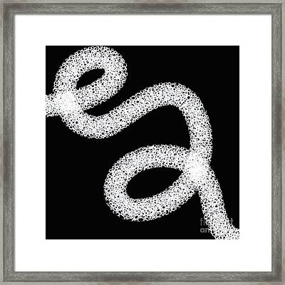 Black And White Abstract Design Framed Print