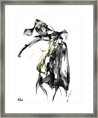Black And White Abstract Expressionism Series 7344.072009 Framed Print by Kris Haas