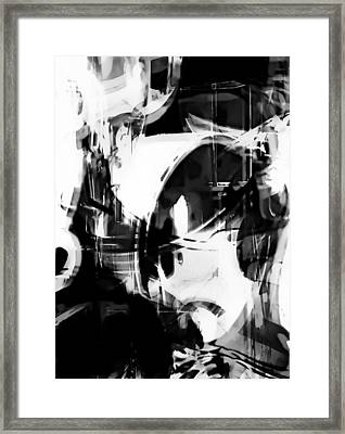 Black And White Abstract Framed Print by Tom Gowanlock