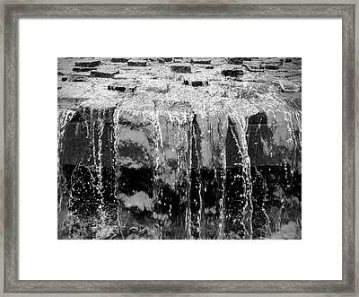 Black And White Abstract Waterfall Framed Print