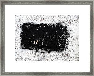 Black And White Abstraction Framed Print by JoAnn Lense