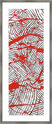 Black And White And Red All Over 1 Framed Print