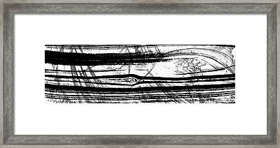 Black And White Art - Layers - Sharon Cummings Framed Print by Sharon Cummings