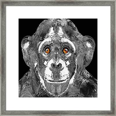 Black And White Art - Monkey Business 2 - By Sharon Cummings Framed Print by Sharon Cummings