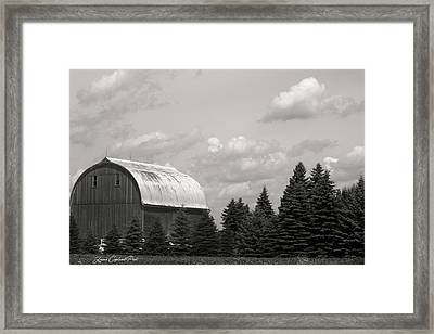 Framed Print featuring the photograph Black And White Barn by Joann Copeland-Paul