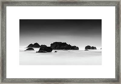 Black And White Beach Art - Long Exposure Photography Framed Print by Wall Art Prints