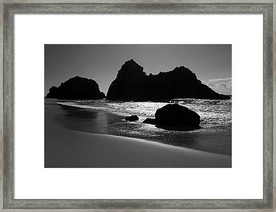 Black And White Big Sur Landscape Framed Print by Pierre Leclerc Photography