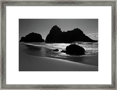 Black And White Big Sur Landscape Framed Print by Pierre Leclerc Photography