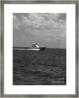 Black And White Boating Framed Print by WaLdEmAr BoRrErO
