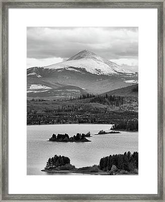 Framed Print featuring the photograph Black And White Breckenridge by Dan Sproul