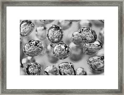 Black And White Bubbles Framed Print