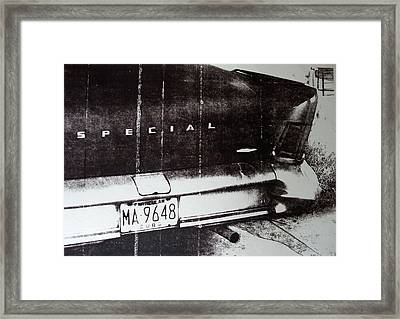 Black And White Car Framed Print by David Studwell