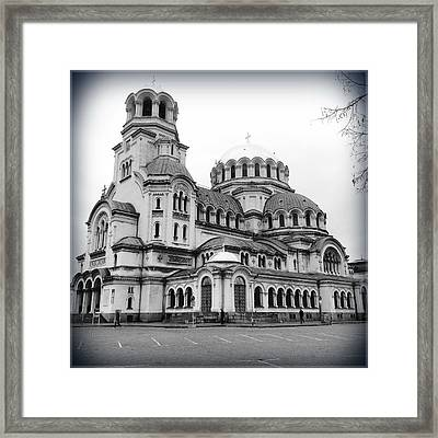 Black And White Cathedral Framed Print by Suggestive Moods