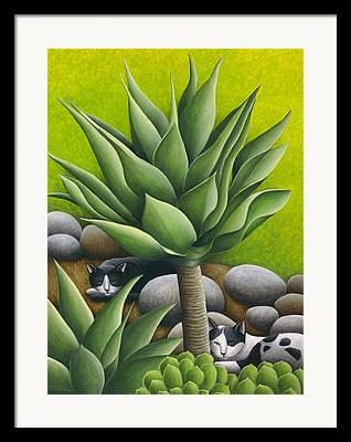 Black Cat Landscape Framed Prints