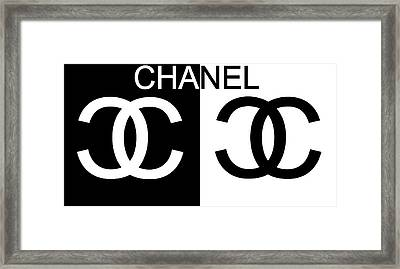 Black And White Chanel 2 Framed Print