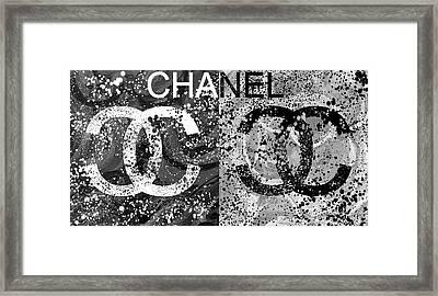 Black And White Chanel Art Framed Print
