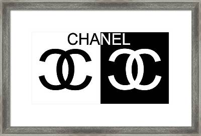 Black And White Chanel Framed Print