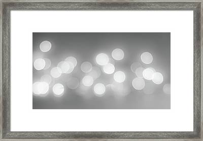 Black And White Circle Abstract  Framed Print by Terry DeLuco