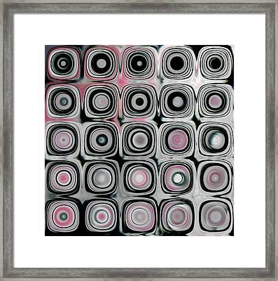 Black And White Circles B Framed Print by Patty Vicknair