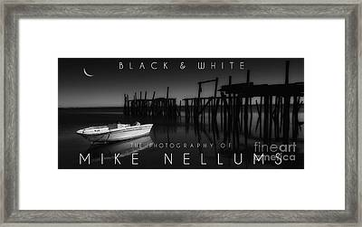 Black And White Coffee Table Book Cover Framed Print