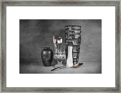 Black And White Composition Framed Print by Tom Mc Nemar