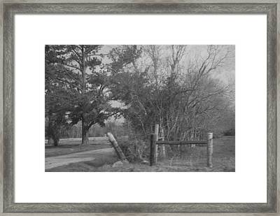 Black And White Country Scene Framed Print by Nancy Stutes