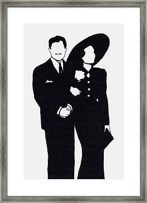 Black And White Couple Framed Print by Mel Thompson