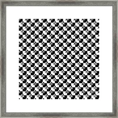 Black And White Cupid Love Checkmate Framed Print by Pod Artist