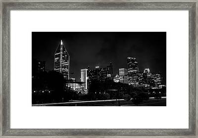 Black And White Downtown Framed Print