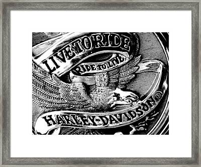 Black And White Emblem Framed Print by Chris Berry