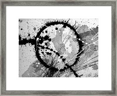 Black And White Five Framed Print