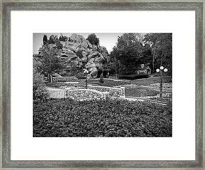 Framed Print featuring the photograph Black And White Flower Garden Walkway by Aimee L Maher Photography and Art Visit ALMGallerydotcom