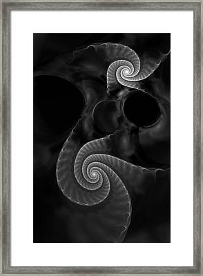 Black And White Fractal 080810 Framed Print