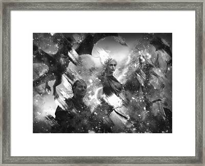 Black And White Games Of Thrones Another Story Framed Print by Georgeta Blanaru