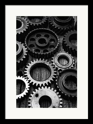Rusty Gears Framed Prints