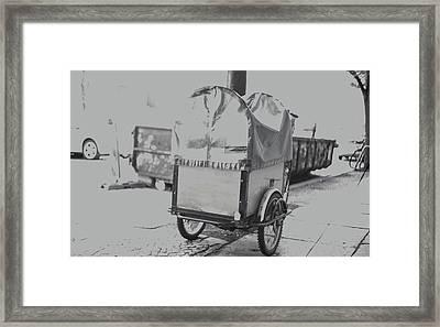 Black And White German Stroller Framed Print