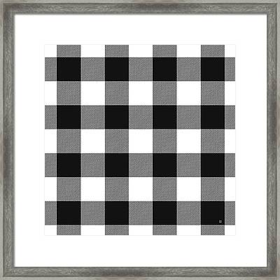 Black And White Gingham Large- Art By Linda Woods Framed Print