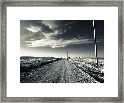 Black And White Gravel Framed Print
