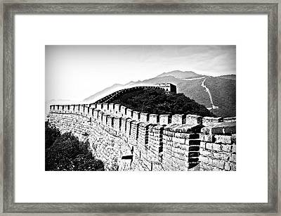 Black And White Great Wall Framed Print by Alessandro Giorgi Art Photography