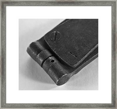 Black And White Handheld Holepunch Framed Print by Wilma  Birdwell