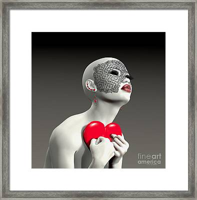 Hold My Heart Framed Print by Barbara Milton
